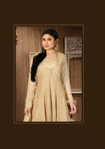 Cream Georgette Suit Set-www.riafashions.com