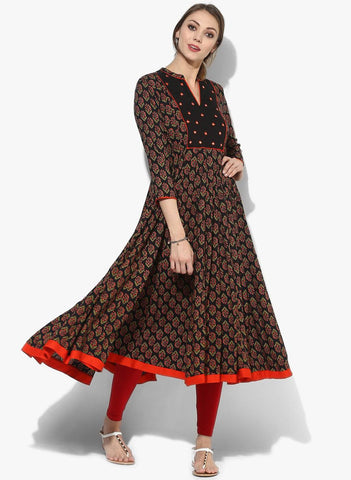 Anarkali Cotton Kurti-www.riafashions.com