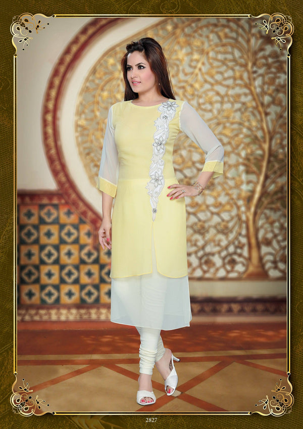 Embroidered Georgette Tunic-www.riafashions.com