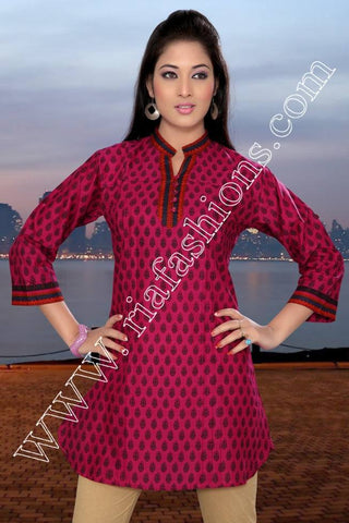 Printed Cotton Tunic-www.riafashions.com