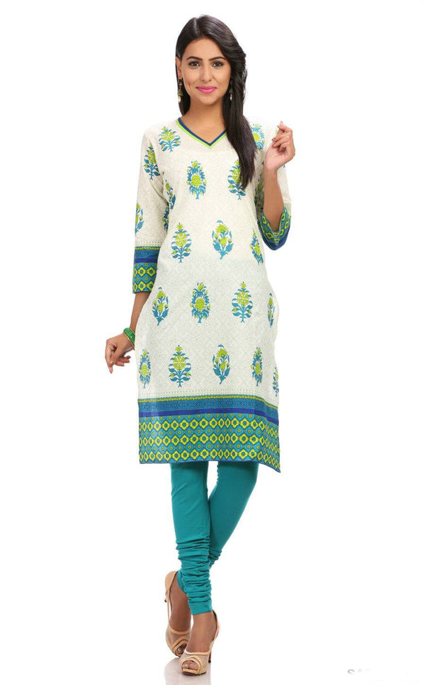 Long Floral Printed Indian Tunic-www.riafashions.com