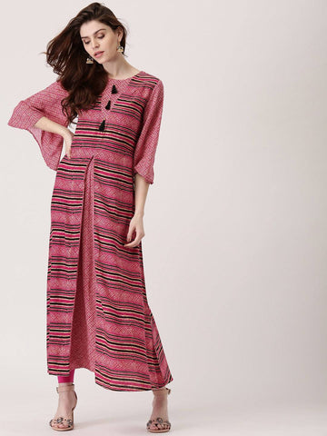 Pink Long Dress-www.riafashions.com