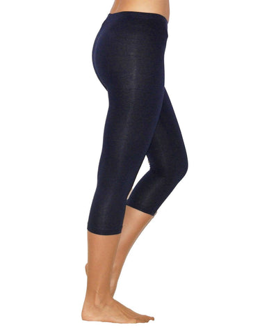 Leggings - 3/4th - Blue Denim-www.riafashions.com