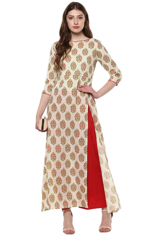 Block Printed Cotton Kurta-www.riafashions.com