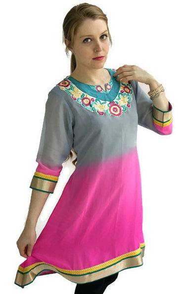Georgette Tunic with embroidery-www.riafashions.com