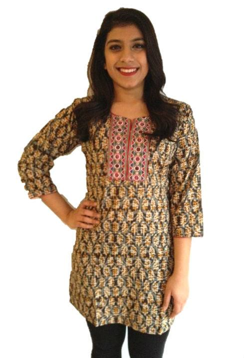 Readymade Cotton Rogan with Pipli yoke kurti / Indian Tunic
