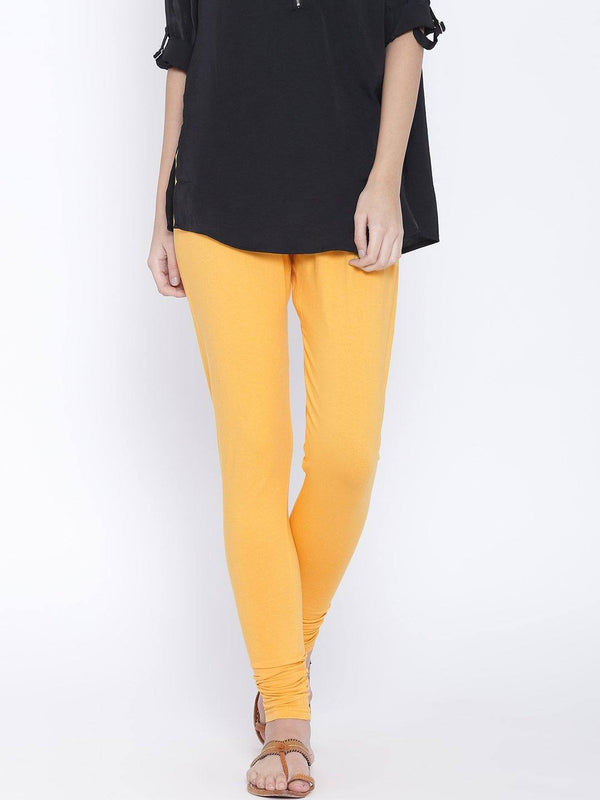 Leggings - Churidar -Yellow