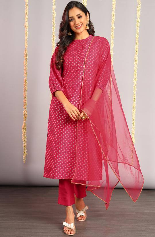 Pink Cotton Make to Order Kurta