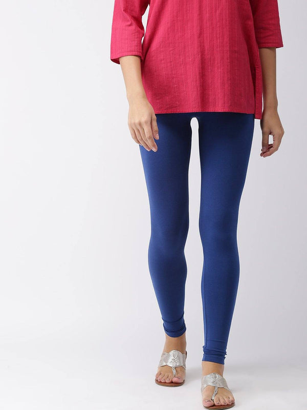 Leggings - Churidar - Royal Blue - www.riafashions.com