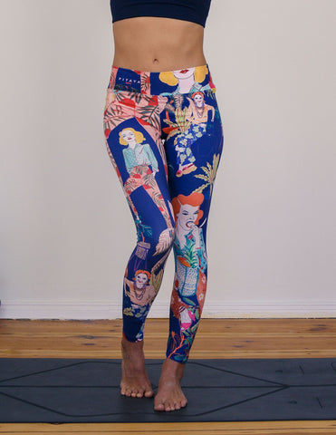 artsy yoga pants leggings colourful berlin hand-sketched ngo donation