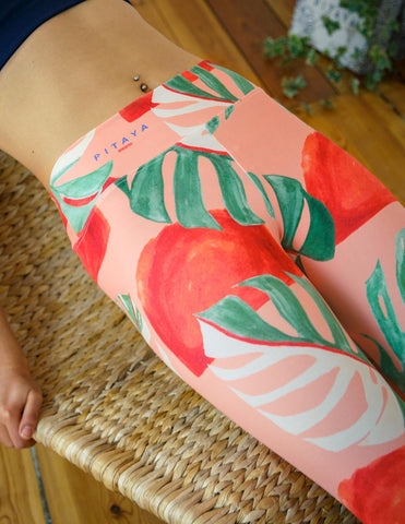 artsy yoga pants leggings colourful berlin hand-sketched watercolour illustration