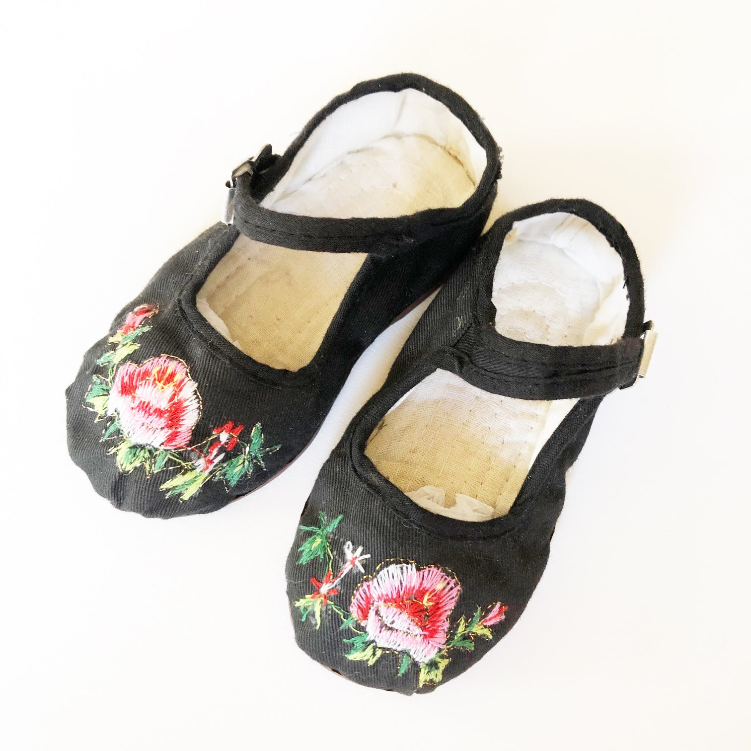 Vintage Cheongsam Little Embroidered shoes size 2-3