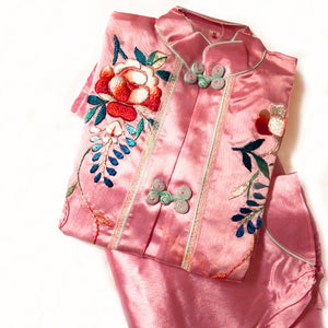 The Prettiest Cheongsam Vintage Embroidered Pajamas size 4-5
