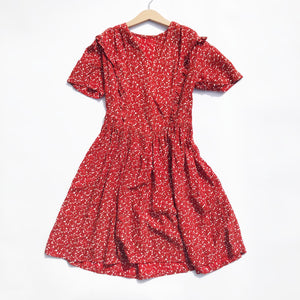 Stunning 1940's Rayon Print dress size 10-12