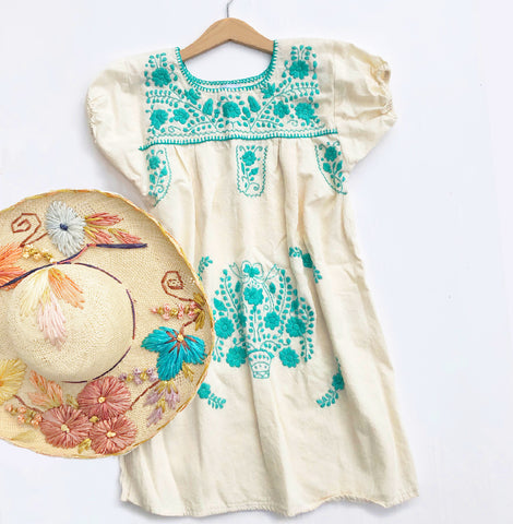 Oaxacan Embroidered Vintage Dress size 4