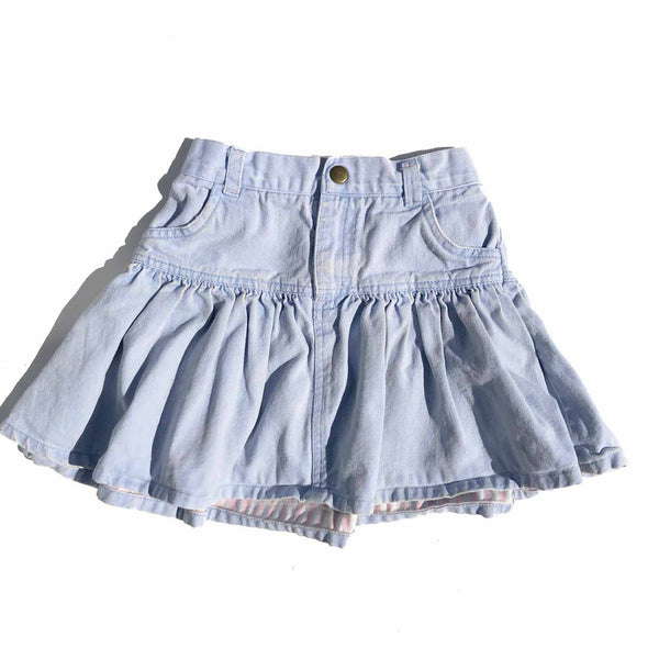 Vintage Denim Jacket and Skirt Set size 3-4