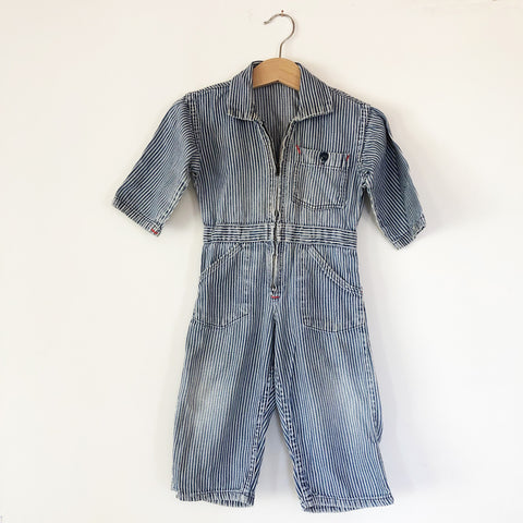Vintage Stripe Coveralls size 18 months
