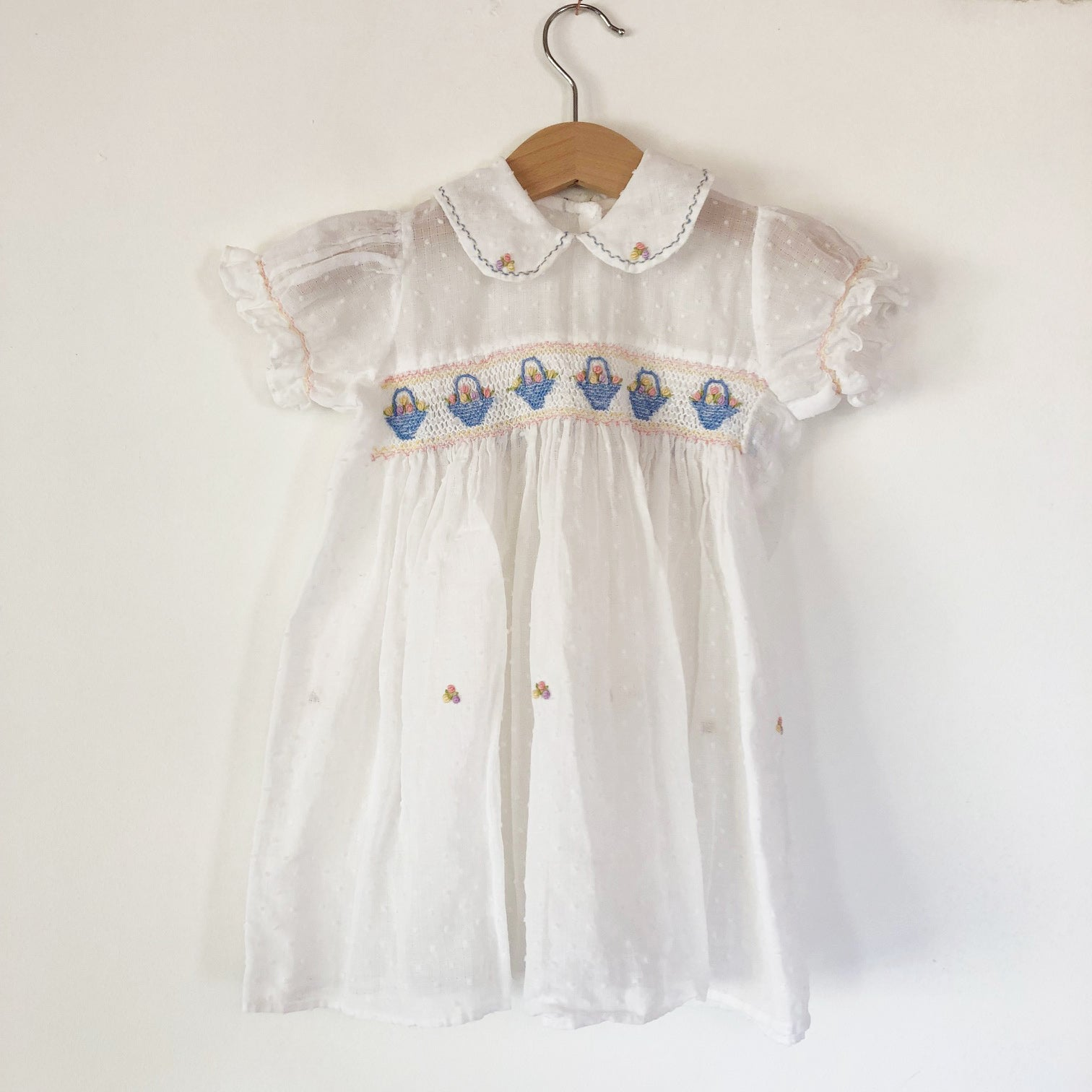 Embroidered Little Polka Dot Dress size 12 months