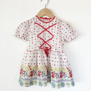 Little Floral Dress in Poppy print size 12-18 months