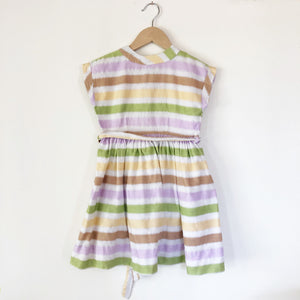 Beautiful 40's Stripe Cotton Poplin Dress size 3-4