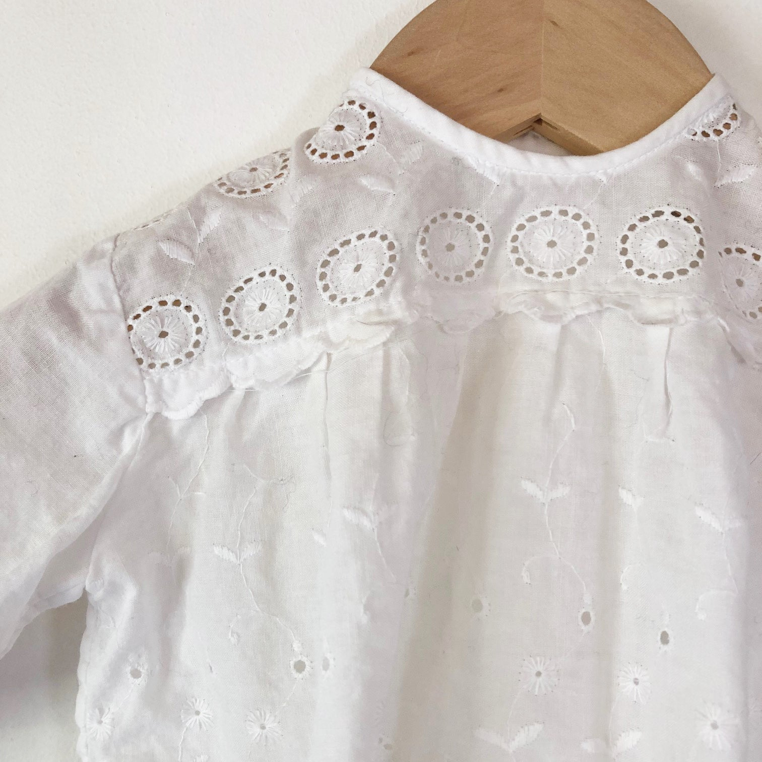 Little Butterly Broderie Anglaise Blouse size 6-12 months