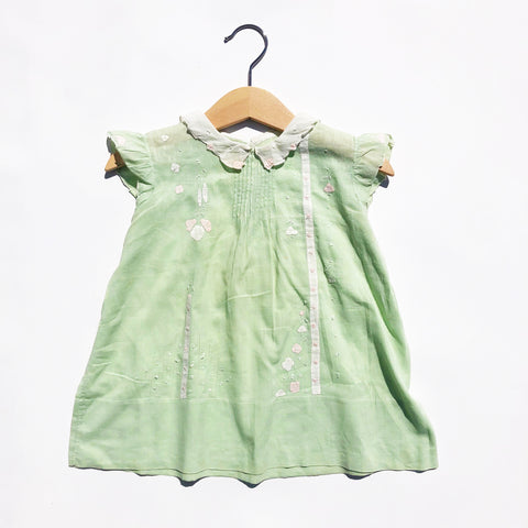Special Little Victorian Hand Made Applique dress size 12-18 months