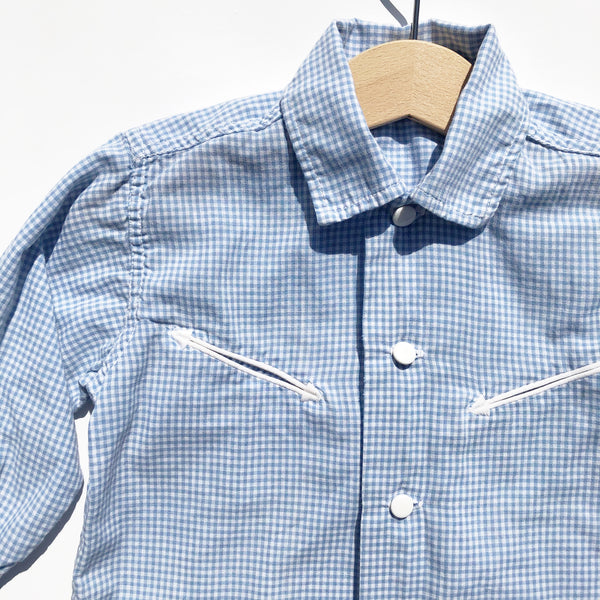 Vintage Western Style Gingham Shirt size 2-3