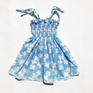 Pretty Little Smocked Sun Dress size 12-18 months.