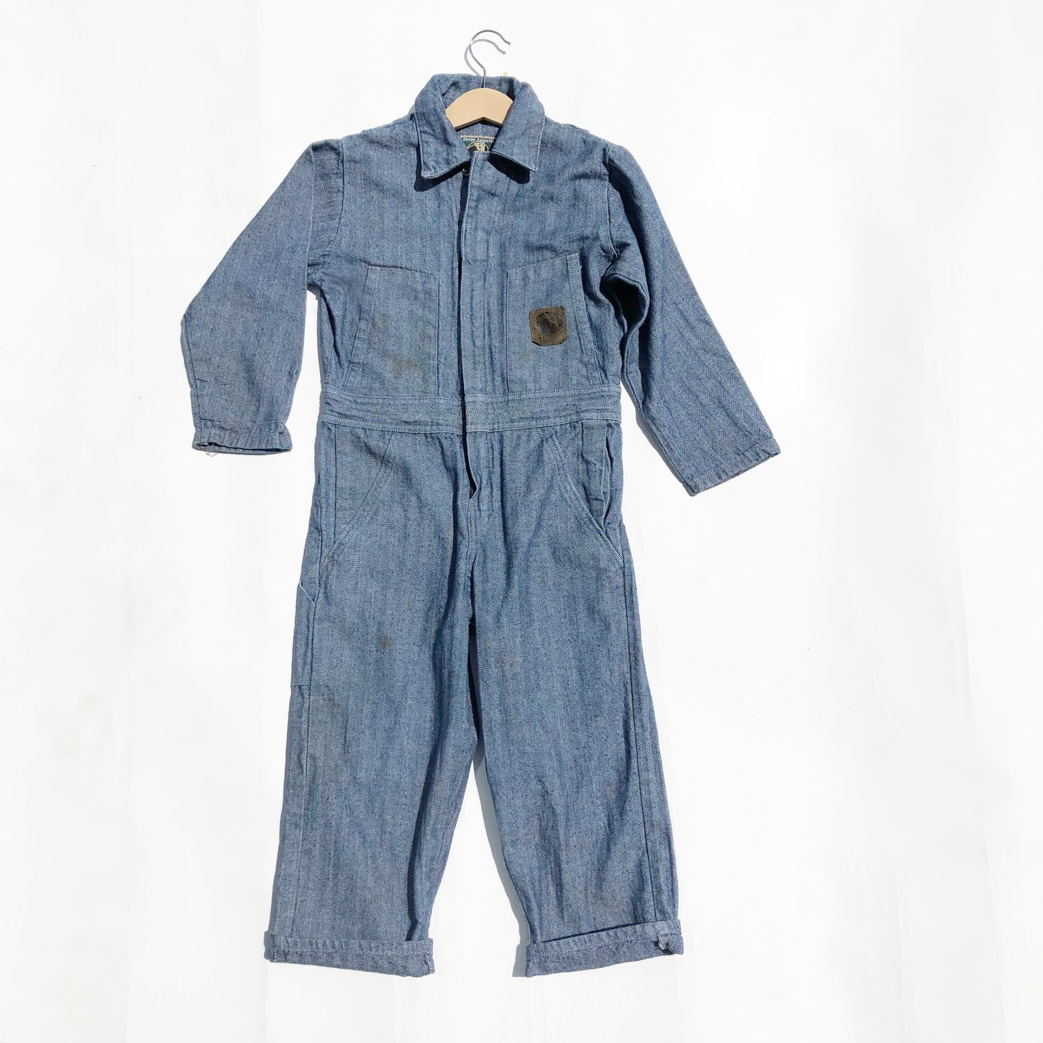 The Perfect Vintage Coveralls in Hickory Herringbone Fabric size 7-9