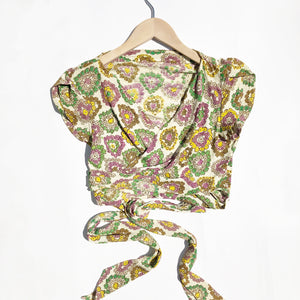 Beautiful Rayon Print Wrap top size 8-12