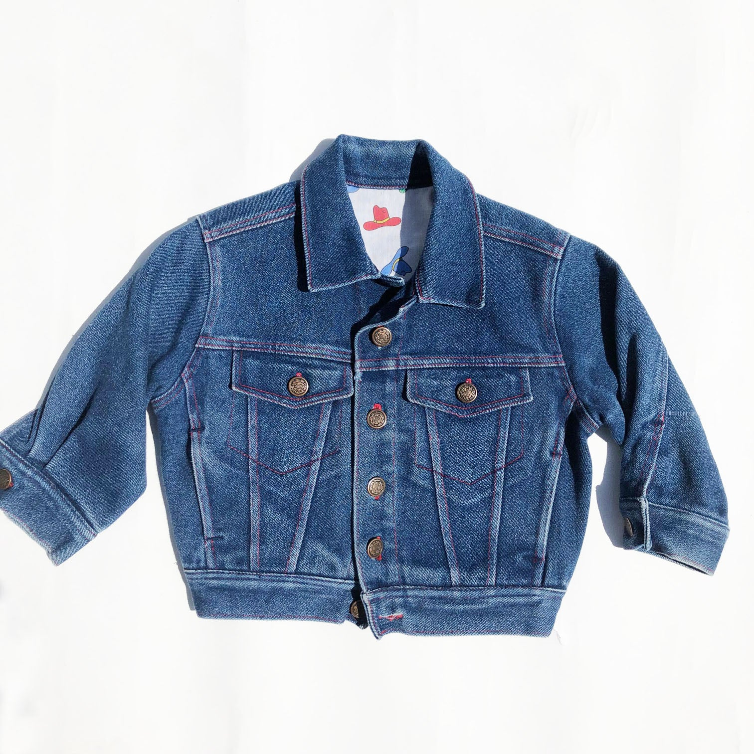 Little Vintage Western Denim Jacket size 18-24 months