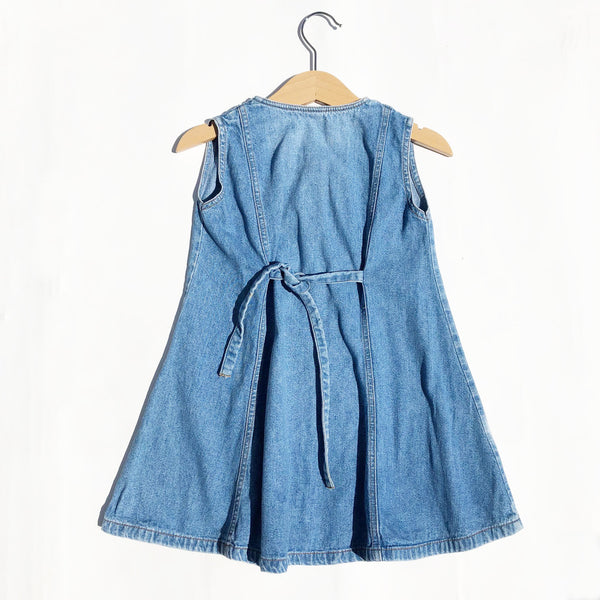 Little Denim Embroidered Dress size 2