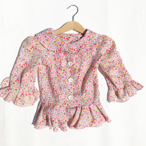 Vintage Little Ditsy Blouse size 3-4