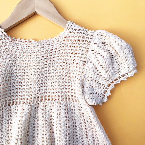 Pretty Victorian Crochet Dress Size 2-3