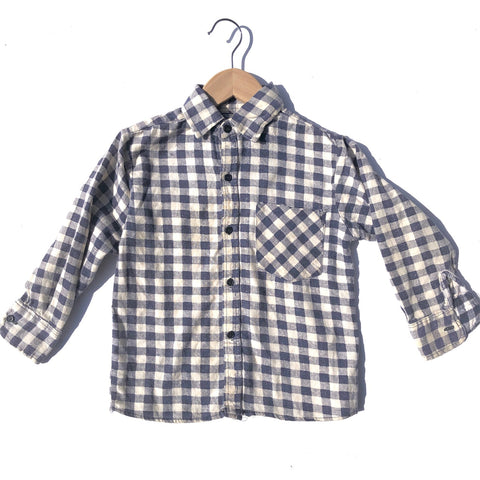 Vintage Check Flannel Shirt size 3-4