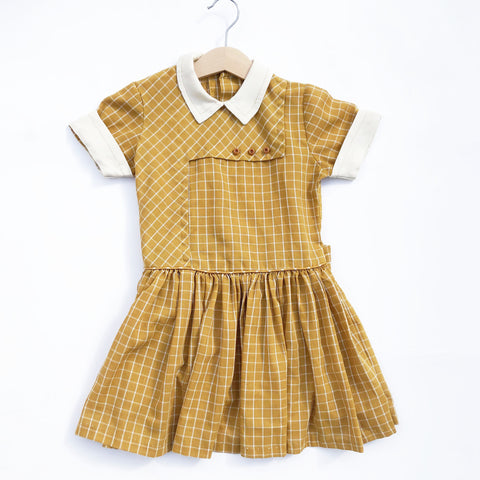Vintage Saffron Plaid Dress size 3-4