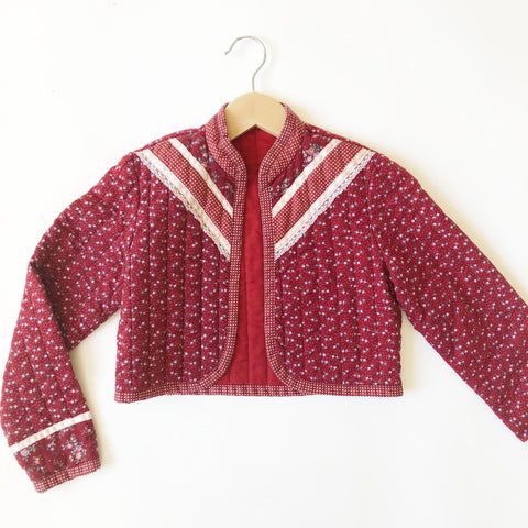 Perfect Vintage Prairie Quilted Jacket size 8-9