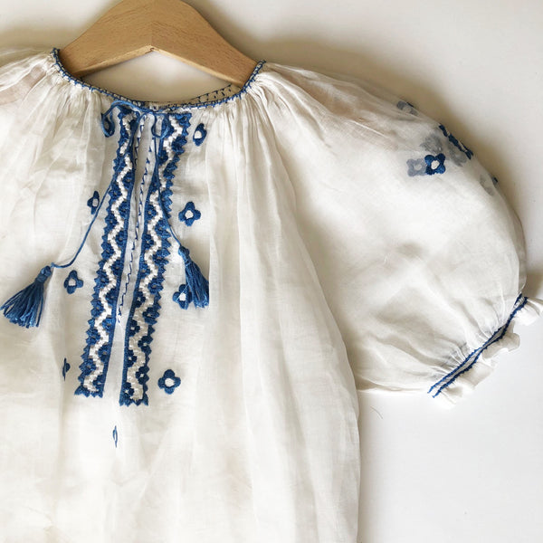Beautiful Embroidered Hungarian Vintage Dress size 6-7