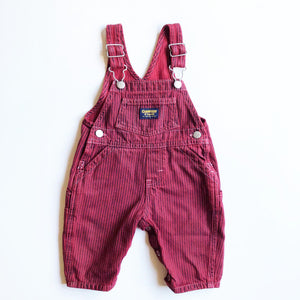 Osh Kosh Little Hickory Stripe Overalls Size 3-9 months