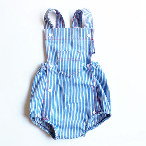 Hickory Stripe Baby Romper size 3-9 months