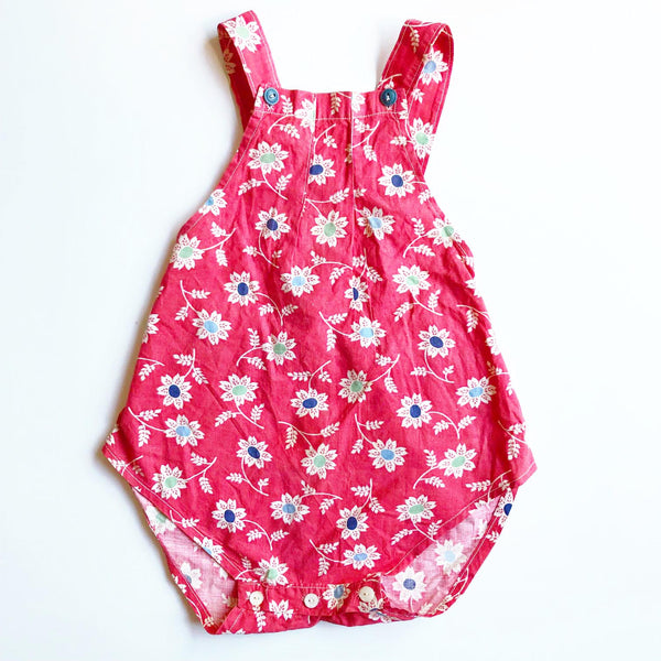 1940's Little Red print Romper 9-12 months