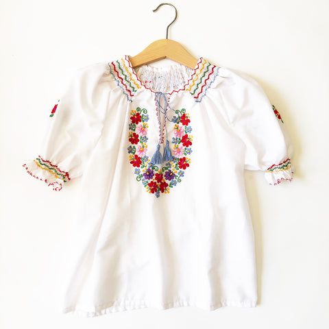 Embroidered Peasant blouse size 6-8yrs
