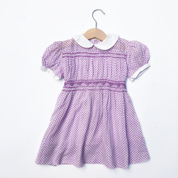 Beautiful Smocked Dress with Collar size 2-3