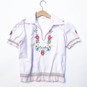 Embroidered Peasant blouse size 12-14yrs
