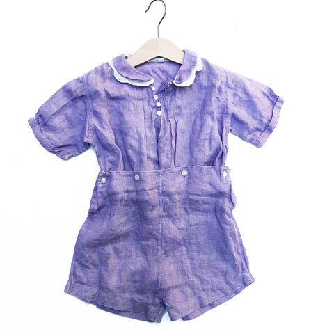 Beautiful Lilac Linen Romper size 18-24 months