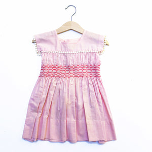Little Pink Smocked Dress with Trim Size 12-18 months