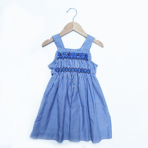 Pretty Vintage Stripe Smocked Dress size 2-3