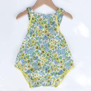 Pretty 40's print Romper size 9-18 months