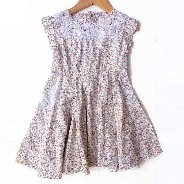 40's Ditsy Print Calico Dress Size 2-3