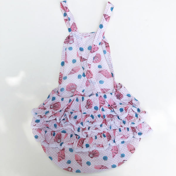 Little 40's shell print Romper size 6-12 months